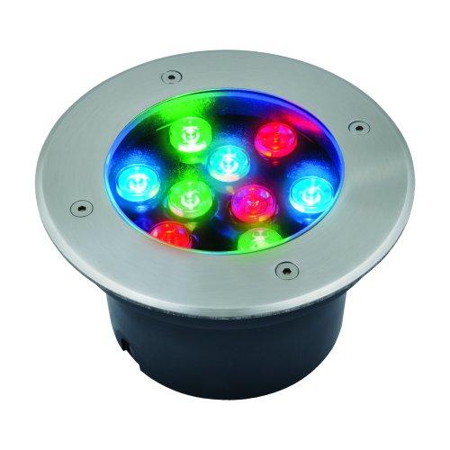 ULU-B12A-9W-RGB IP67 GREY Светильник светодиодный уличный. Архитектурный встраиваемый. RGB свет. Корпус серый. TM Uniel.