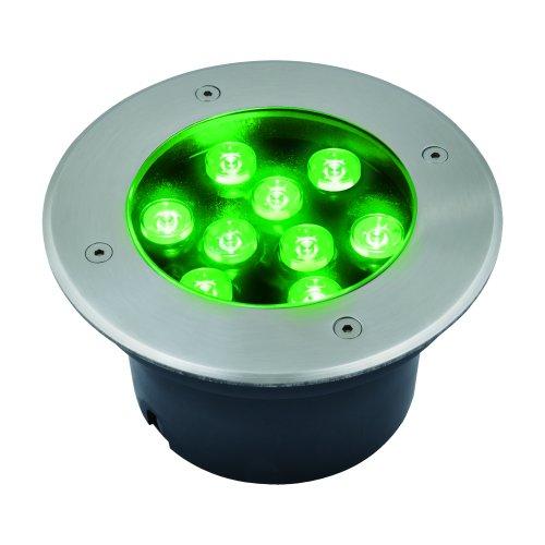 ULU-B12A-9W-GREEN IP67 GREY Светильник светодиодный уличный. Архитектурный встраиваемый. Зеленый свет. Корпус серый. TM Uniel.
