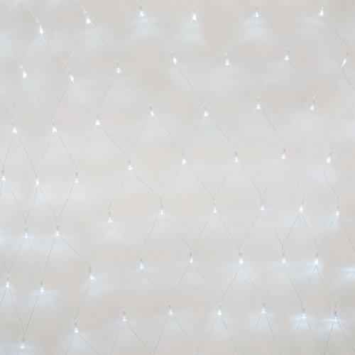 ULD-N1515-96-TTK WHITE IP44 Сетка светодиодная с эффектом мерцания. 1.5х1.5м. Соединяемая. 96 светодиодов. Белый свет. Провод прозрачный. TM Uniel