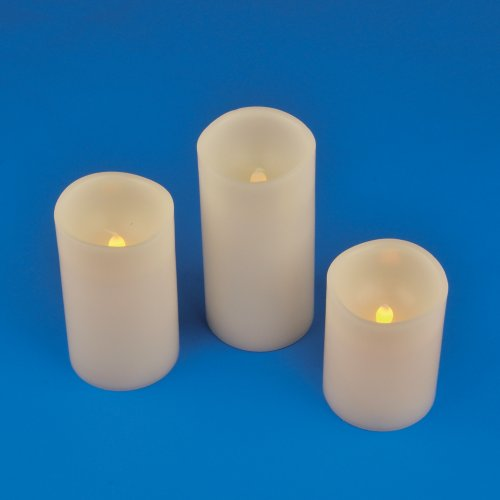 ULD-F050 WARM WHITE CANDLE SET3 Фигура светодиодная Свеча на батарейках 2АА не в-к. в составе набора из 3 штук. 1 светодиод. Теплый белый свет. TM Uniel