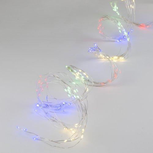 ULD-E0120-120-STA MULTI IP44 Гирлянда светодиодная Лучи росы. 1.2м. 10 нитей. 120 светодиодов. Разноцветный свет. Провод прозрачный. ТМ Uniel