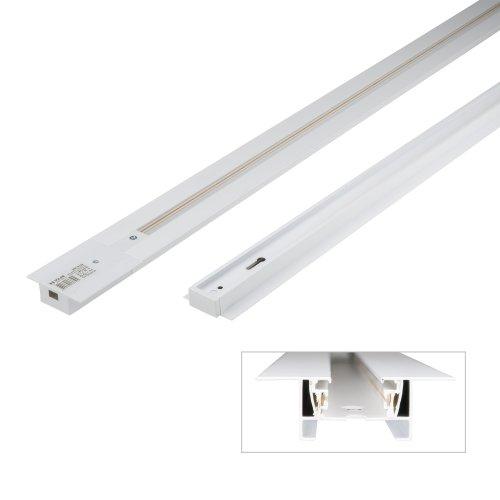 UBX-Q123 RS2 WHITE 100 SET01 Шинопровод осветительный. тип R. в наборе с заглушкой и вводом питания. Однофазный. Встраиваемый. Белый. Длина 1м. ТМ Volpe
