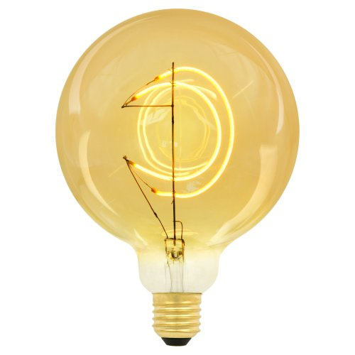 LED-SF02-5W-SOHO-E27-CW GOLDEN GLS77GO Лампа светодиодная SOHO. Золотистая колба. Филамент в форме месяца. Картон. ТМ Uniel
