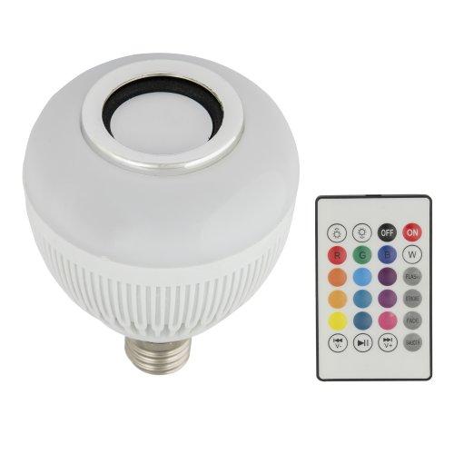 ULI-Q340 8W-RGB-E27 WHITE Светодиодный светильник Диско. с динамиком и Bluetooth. 220В. Белый. ТМ Volpe