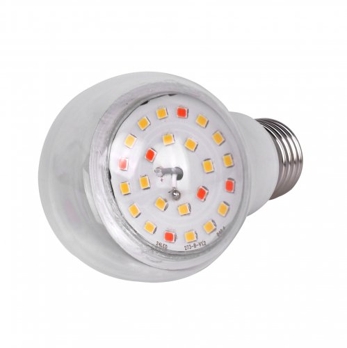 LED-A60-10W-SPFB-E27-CL PLP30WH Лампа светодиодная для растений. Форма A. прозрачная. Спектр для фотосинтеза. Картон. ТМ Uniel