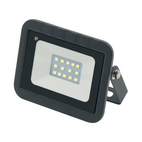 ULF-Q512 10W-DW SENSOR IP65 220-240B BLACK Прожектор светодиодный с датчиком движения и освещенности. Дневной свет 6500K. Корпус черный. ТМ Volpe.
