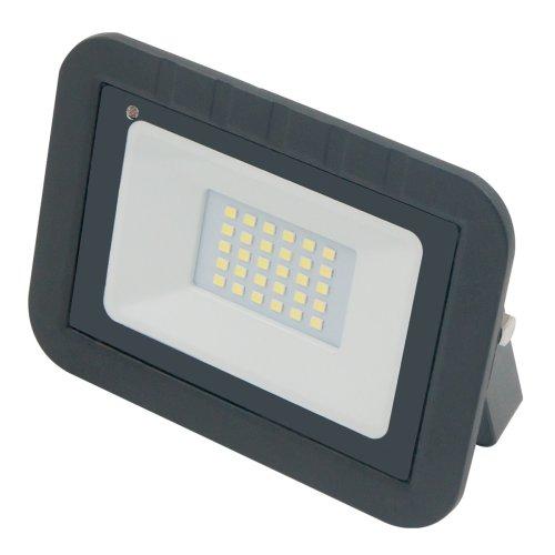 ULF-Q512 30W-DW SENSOR IP65 220-240B BLACK Прожектор светодиодный с датчиком движения и освещенности. Дневной свет 6500K. Корпус черный. ТМ Volpe.