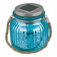 USL-M-210-GN120 BLUE JAR Садовый светильник на солнечной батарее. Теплый белый свет. 1xАА Ni-Mh аккумулятор в-к. IP44. TM Uniel.