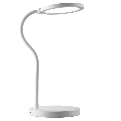 TLD-553 White-LED-400Lm-4500K-Dimmer-USB Светильник настольный. 6W. Встроенный аккумулятор 1200mAh. Сенсорный выключатель. Белый. ТМ Uniel