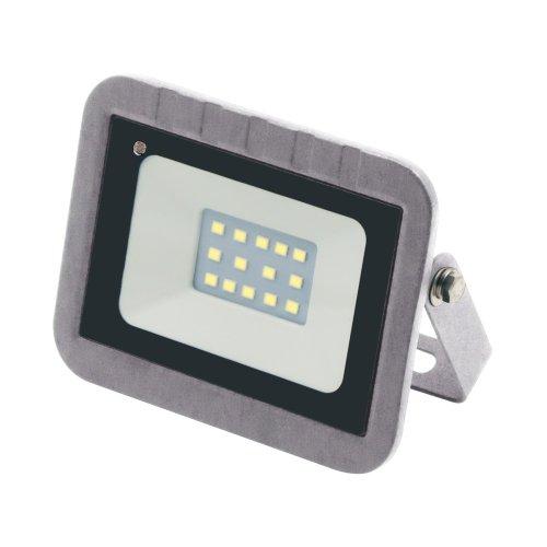 ULF-Q592 10W-DW SENSOR IP65 220-240B SILVER Прожектор светодиодный с датчиком движения и освещенности. Дневной свет 6500K. Корпус серебристый. ТМ Volpe.