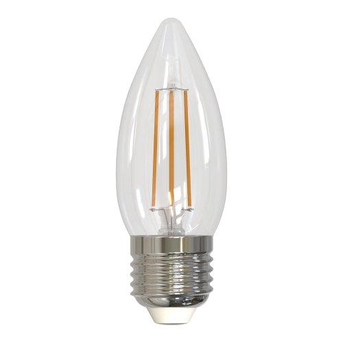 LED-C35-5W-NW-E27-CL-DIM GLA01TR Лампа светодиодная диммируемая. Форма свеча. прозрачная. Серия Air. Белый свет 4000K. Картон. ТМ Uniel