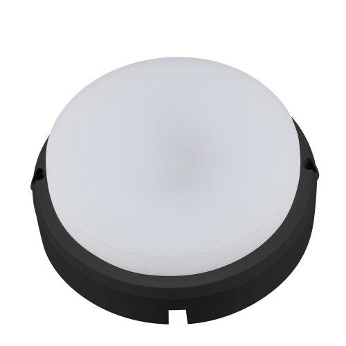 ULW-Q214 12W-NW SENSOR IP65 BLACK Светильник светодиодный влагозащищенный. с  датчиком движения. Круг. Белый свет 4000K. 960Лм. Диаметр 16 см. Корпус черный. ТМ Volpe.