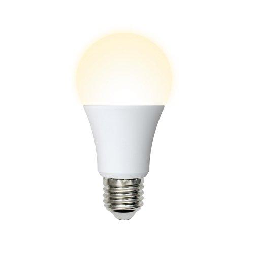 LED-A60-11W-WW-E27-FR-NR Лампа светодиодная. Форма A. матовая. Серия Norma. Теплый белый свет 3000K. Картон. ТМ Volpe