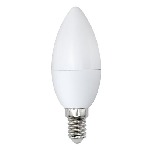 LED-C37-9W-NW-E14-FR-NR Лампа светодиодная. Форма свеча. матовая. Серия Norma. Белый свет 4000K. Картон. ТМ Volpe