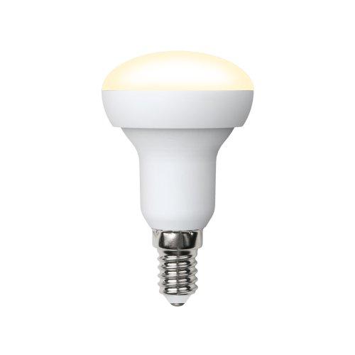 LED-R50-7W-WW-E14-FR-NR Лампа светодиодная. Форма Рефлектор. матовая. Серия Norma. Теплый белый свет 3000K. Картон. ТМ Volpe