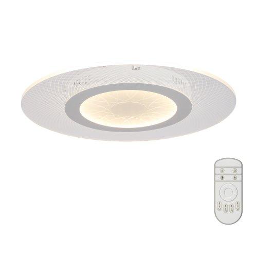 DLC-N502 34W ACRYL-CLEAR Светильник светодиодный потолочный ТМ Fametto. серия Nimfea. 34 Вт. Диммируемый. Пульт ДУв-к. 3000К-4000К-6500К. Материал пластик; цвет прозрачный. d-500мм.