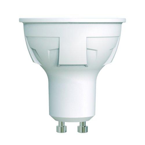LED-JCDR 6W-WW-GU10-FR-DIM PLP01WH Лампа светодиодная. диммируемая. Форма JCDR. матовая. Серия ЯРКАЯ. Теплый белый свет 3000K. Картон. ТМ Uniel