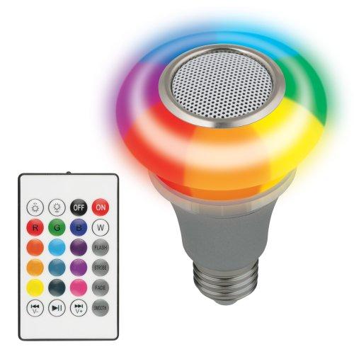 ULI-Q340 5W-RGB-E27 SILVER Светодиодный светильник Диско. с динамиком и Bluetooth. 220В. Серебристый. ТМ Volpe.