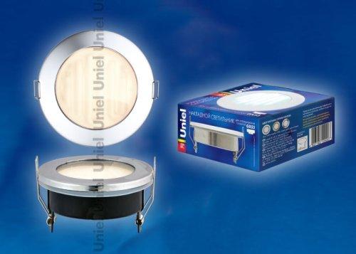 GX53-9-2700-Н5 Хром. Светильник встраиваемый с лампой. IP54