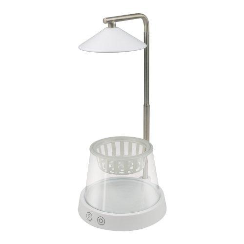 ULT-P36-3W-4000K+SPSB IP40 WHITE Светильник для растений светодиодный. с подставкой и декоративной емкостью. Белый свет4000K + cпектр для рассады и цветения. TM Uniel.