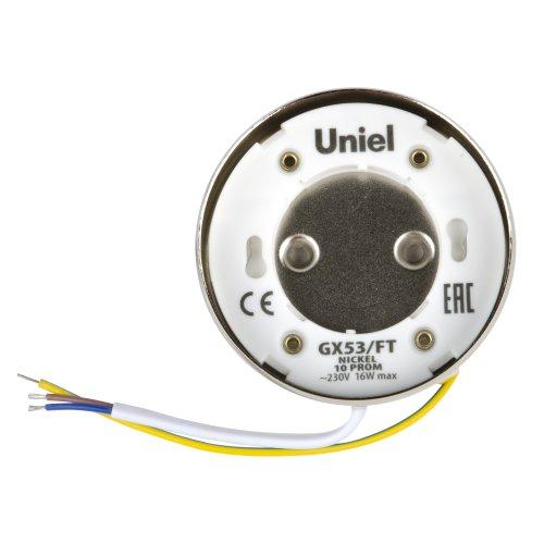 GX53-FT NICKEL 10 PROM Светильник накладной. В составе набора из 10шт. Корпус никель. Картон. TM Uniel.