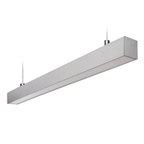 ULO-K10D 60W-5000K-L120 IP65 SILVER Светильник линейный светодиодный подвесной. Белый свет 5000К. 5600Лм. Алюминий. Цвет серебро. TM Uniel