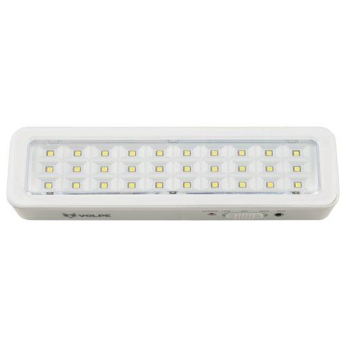 ULR-Q401 2W-DW-DC WHITE S01 Светильник светодиодный аварийного освещения ВЫХОД. Дневной свет 6500K. Встроенный аккумулятор DС. Корпус белый. ТМ Volpe.